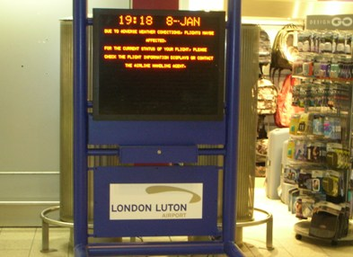 Programmable-display-Luton-Airport